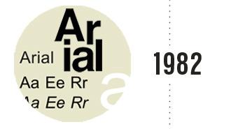 Arial navrhnutý 10 členným tímom pre monotype typografiu